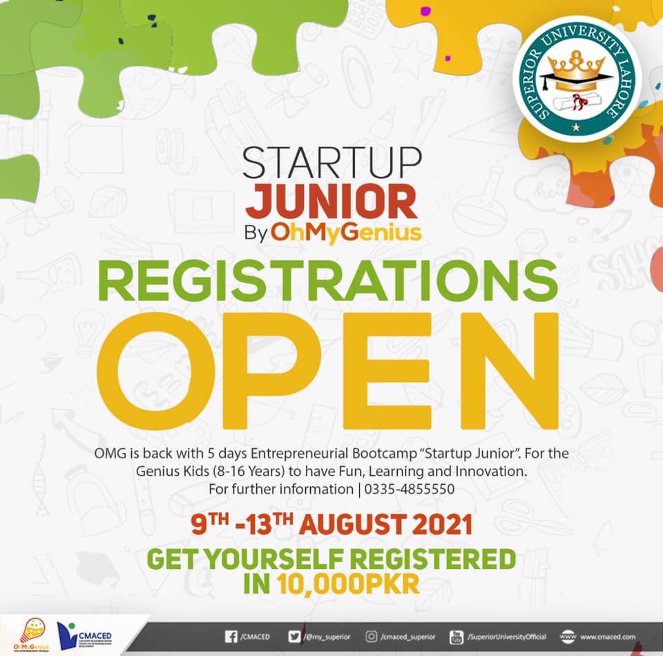 Startup Junior Registration
